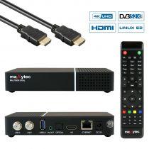Vorschau: Maxytec Multibox 4K UHD 2160p E2 Linux USB HDMI DVB-S2X Dual Sat Receiver