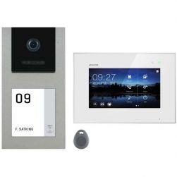 Balter EVO-AP Silber Video Türsprechanlage 7 Touchscreen RFID 2-Draht BUS Set für 1 Familienhaus