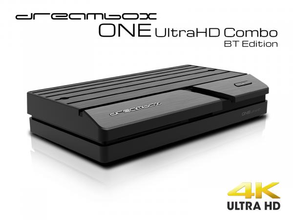 Dreambox One Combo Ultra HD BT 1x DVB-S2X / 1xDVB-C/T2 Tuner 4K 2160p E2 Linux Dual Wifi H.265