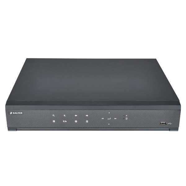 Balter BNR-3108P 8-Kanal 3840x2160p H.265 PoE Alarm 4K Netzwerk Kamera Rekorder