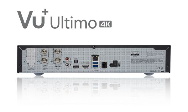 VU+ Ultimo 4K BT Edition 2x DVB-S2X FBC Twin Tuner PVR ready Linux Receiver UHD 2160p