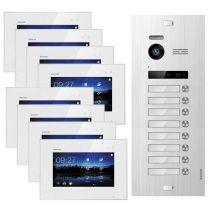 Vorschau: Balter EVO SILVER Video-Türsprechanlage 7 Touchscreen 2-Draht BUS Komplettsystem für 8 Teilnehmer