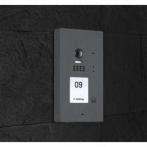Preview: BALTER EVIDA Graphit RFID Edelstahl 2-Draht BUS Video Türstation Aufputz 1 Familienhaus Set