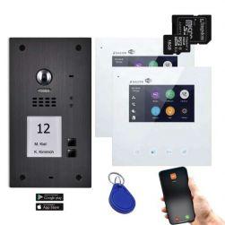 BALTER EVIDA Graphit RFID Edelstahl BUS Video Türstation 4.3 Wifi APP 2 Teilnehmer