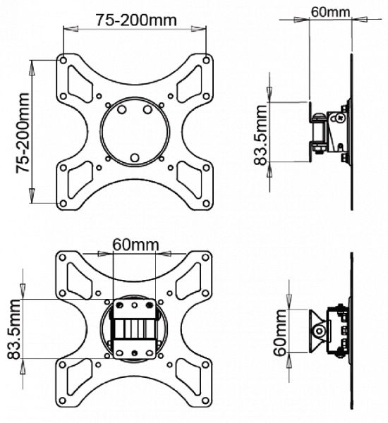 DMP LCD 2900B VESA -schwarz-