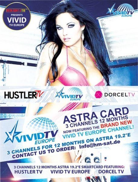 Hustler TV, Dorcel TV und Vivid TV Europe ASTRA 19,2° Viaccess Karte
