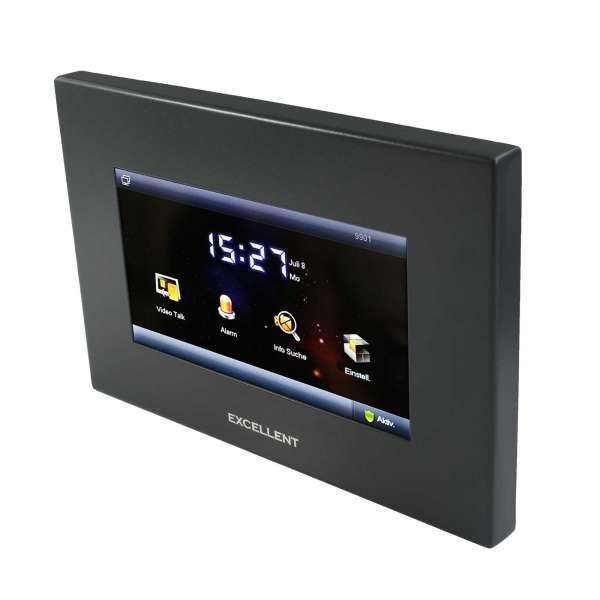 Excellent 2-Draht-BUS Video-Türsprechanlage 7 LCD Touch Display App Steuerung Anthrazit