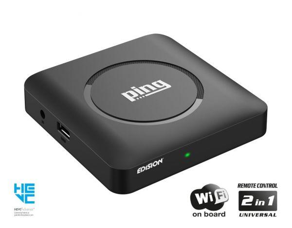 Edision ping Full-HD OTT/IPTV Box inkl. Wlan schwarz