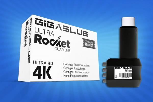 Gigablue Ultra Rocket Quad Multifeed LNB 40mm Feed 0.1dB Full HD