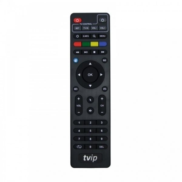 TVIP S-Box v.600 IPTV/OTT 4K UHD Media Player schwarz/silber