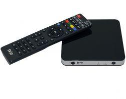 TVIP S-Box v.600 IPTV/OTT 4K UHD Media Player schwarz/silber