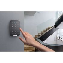 Preview: AJAX Funk Bedienteil KeyPad mit Sensortastatur Smarthome & APP-Funktion für AJAX Hub Schwarz