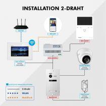 Preview: Balter EVO Silber Video Türsprechanlage Quick Monitor 2-Draht BUS Komplettsystem für 4 Teilnehmer