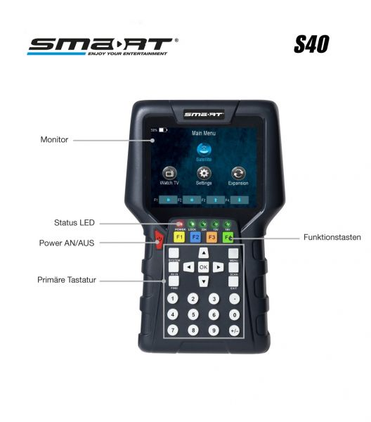 Smartmeter S40 DVB-S/S2/C/T2 H.265 Combo Messgerät