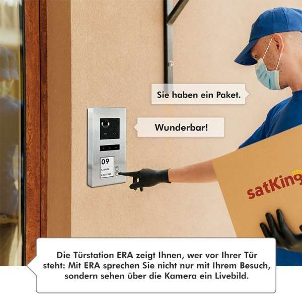 Balter ERA Silber RFID 2-Draht BUS IP Türstation 2 Familienhaus 150° Weitwinkelobjektiv Aufputz