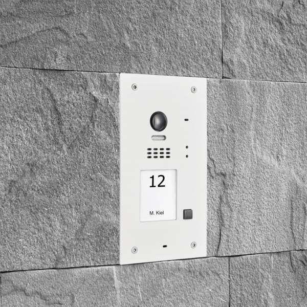 BALTER EVIDA Weiss RFID Edelstahl-Türstation 1 Teilnehmer 2-Draht BUS 170° Ultra-Weitwinkelkamera