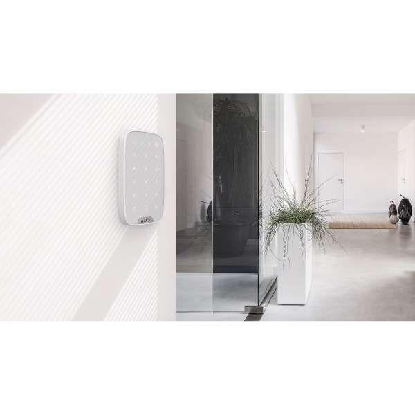 AJAX Funk Bedienteil KeyPad mit Sensortastatur Smarthome & APP-Funktion für AJAX Hub Weiss