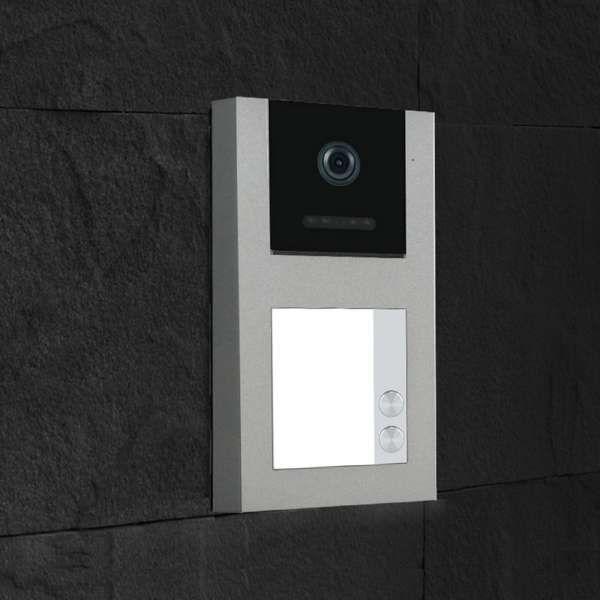 Balter EVO-AP Silber Video Türsprechanlage Quick-Talk RFID Intercom 2-Draht BUS Set für 2 Teilnehmer
