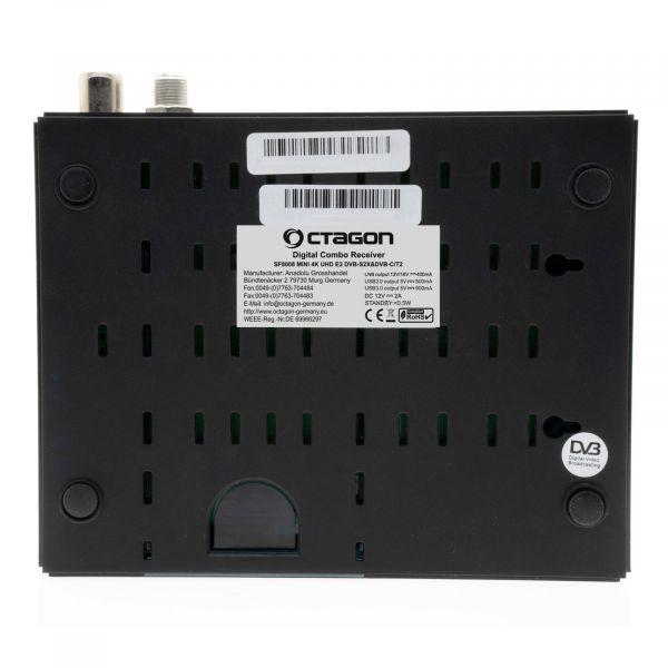 OCTAGON SF8008 MINI 4K ULTRA HD E2 2160P H.265 E2 Linux Wifi 1XDVB-S2X, 1XDVB-C/T2 Comb Receiver