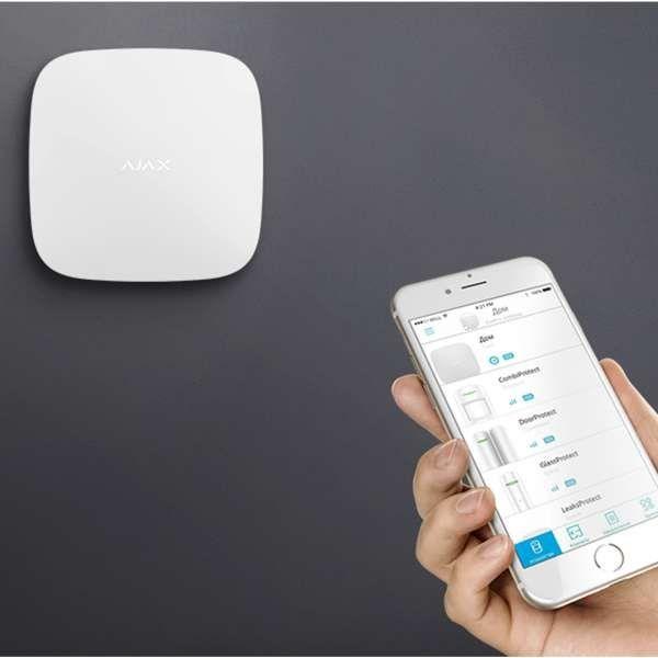 AJAX Alarmzentrale Hub 2 Jeweller GSM LAN GPRS APP Steuerung Weiss