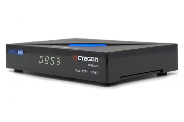 OCTAGON SX889 WL Full HD IP H.265 WiFi LAN HDMI Linux TV IP Mediaplayer Schwarz