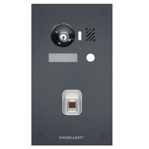 Excellent IP Video-Türsprechanlage 7 Touch LCD Komplettsystem 1 Familienhaus Fingerprint Anthrazit