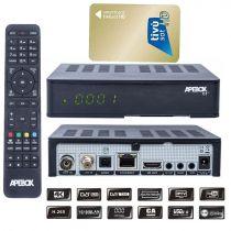 Vorschau: Apebox C2 4K UHD H.265 LAN DVB-S2X DVB-C/T2 Multistream Combo Receiver mit TIVUSAT Karte