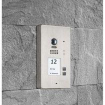 Vorschau: BALTER EVIDA Silber RFID Edelstahl 2-Draht BUS Video Türstation Aufputz 2 Familienhaus Set