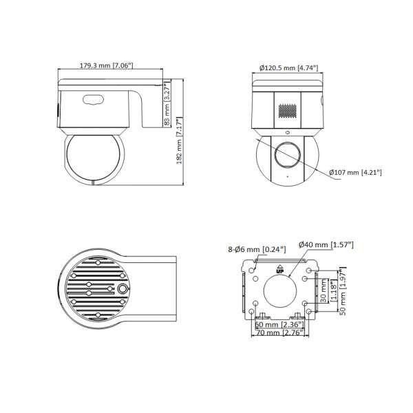 Neostar NTI-ST4334WIR WIFI 4.0MP H265 2560x1440p IR 2.8-12mm Motorzoom IP66 Mini PTZ Kamera