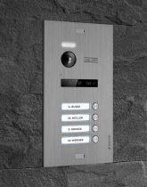 Preview: Balter EVO Silber Video Türsprechanlage EVO-TALK 2-Draht BUS Komplettsystem für 4 Teilnehmer