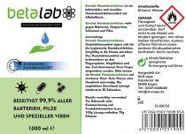 Vorschau: Beta Lab Händedesinfektionsmittel 1L (1000ml)