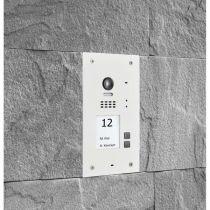 Vorschau: BALTER EVIDA Weiss RFID Edelstahl BUS Video Türstation 2x4.3 Wifi APP 2 Teilnehmer