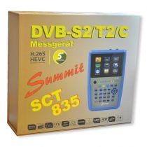 Vorschau: SUMMIT / Orbitech SCT 835 H.265 HD für DVB-S/S2/T/T2/C IPTV COMBO Satfinder mit Spektrum