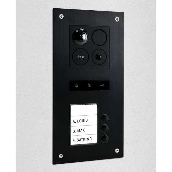 BALTER ERA Black RFID 2-Draht BUS IP Türstation für 3 Familienhaus 150° Weitwinkelobjektiv
