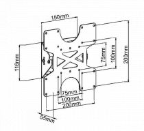 Vorschau: DMP LCD 113 VESA -silber-