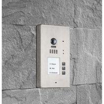 Preview: BALTER EVIDA Silber RFID Edelstahl-Türstation 3 Teilnehmer 2-Draht BUS 170° Kamera Aufputz