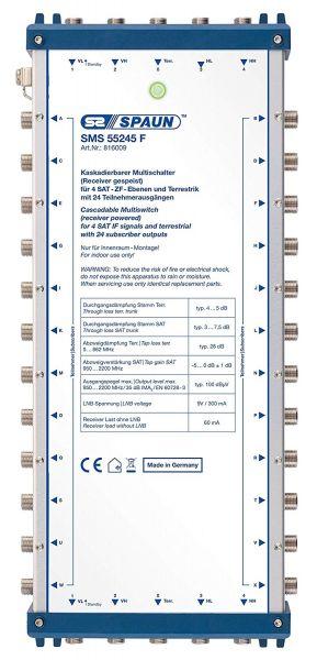 Spaun SMS 55245 F Sat Multischalter ohne Netzteil kaskadierbar