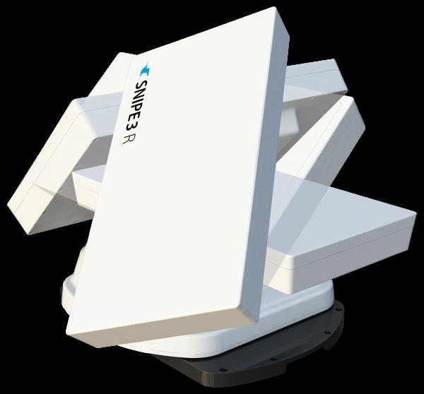 Selfsat Snipe 3 R Twin mit Fernbedienung GPS Vollautomatische Antenne Skew Sat System