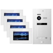 Preview: Balter EVO SILVER Video-Türsprechanlage 4x7 Touchscreen 2-Draht BUS Komplettsystem für 1 Teilnehmer
