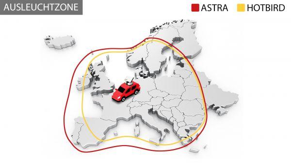 Selfsat SNIPE Air Vollautomatische SAT IP WI-FI Camping Satelliten Flachantenne