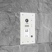 Preview: BALTER EVIDA Weiss RFID Edelstahl-Türstation 1 Teilnehmer 2-Draht BUS 170° Ultra-Weitwinkelkamera