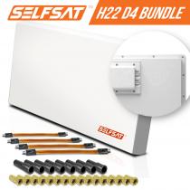 Preview: Selfsat H21D1+ 1 TV Teilnehmer SAT Flachantenne FLAT + profi Fensterdurchführung FULL HD