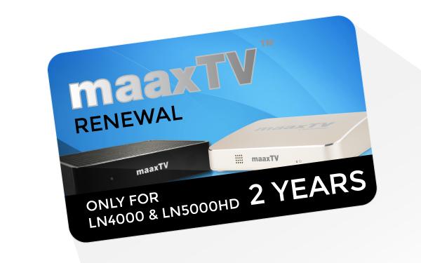 MaaxTV Verlängerung für MaaxTV LN4000 und LN5000HD - Arabic - Laufzeit 2 Jahre