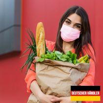 Vorschau: 50er Satz Mundschutz Atemschutzmaske Mund-Nasen-Schutz 3-lagig Schutzmaske Rosa