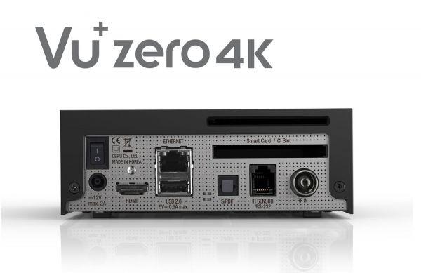 VU+Zero 4K 1x DVB-C/T2 Tuner Linux Receiver UHD 2160p Vorführgerät