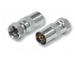 Adapter F-Stecker-IEC-Buchse