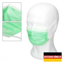 Vorschau: 50er Satz Mundschutz Atemschutzmaske Mund-Nasen-Schutz 3-lagig Schutzmaske Türkis