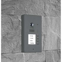 Preview: BALTER EVIDA Graphit RFID Edelstahl-Türstation 4 Teilnehmer 2-Draht BUS 170° Kamera Aufputz
