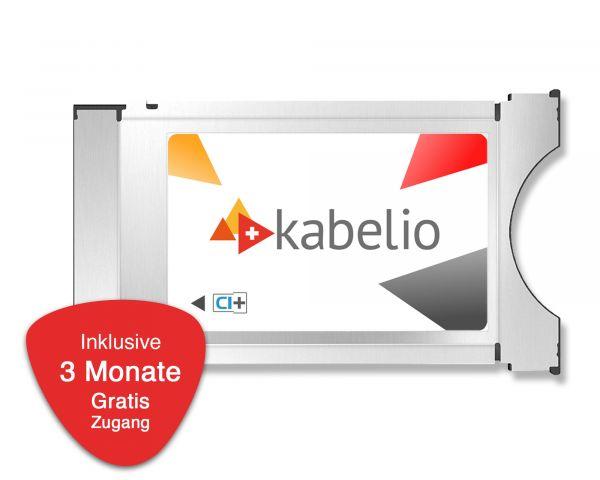Kabelio CI+ Zugangsmodul inkl. 3 Monate Gratis-Zugang für SAT