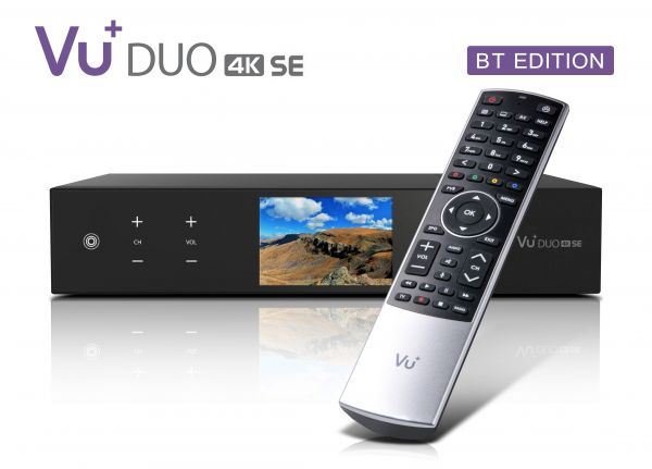 VU+ Duo 4K SE BT 1x DVB-S2X FBC Twin Tuner PVR ready Linux Receiver UHD 2160p
